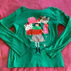 Other - Carter's girls holiday themed T size 6